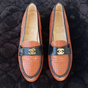 CHANEL Braided Woven Loafer & Moccasin Shoes